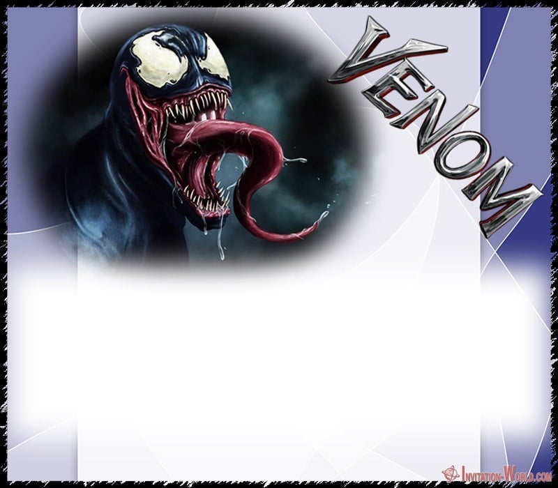 Venom Template Design - Venom Invitation Templates - Free and Printable