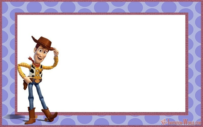 Woody Toy Story Invitation Termplate - Woody Toy Story Invitation Termplate