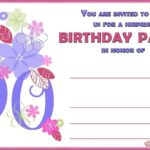 90th birthday invitation template free 150x150 - 90th birthday invitation template