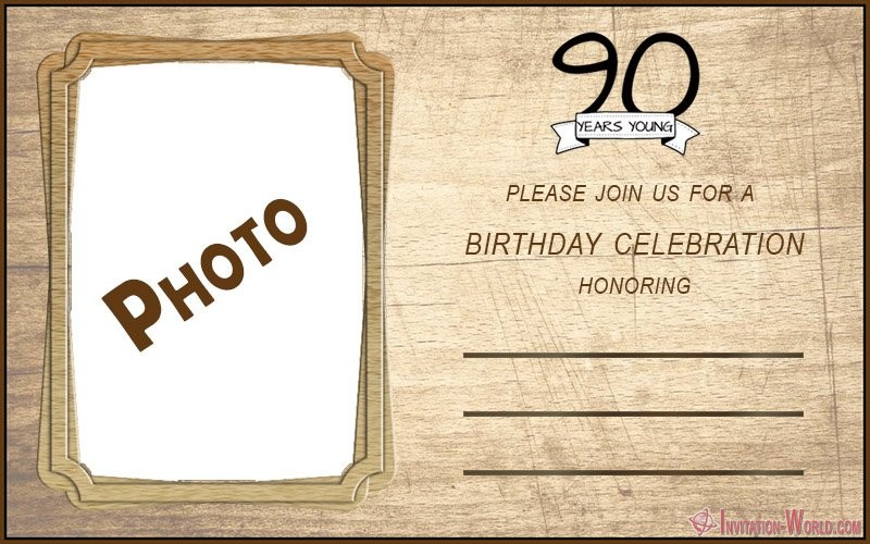 90th birthday invitation template - 90th Birthday Invitation Ideas