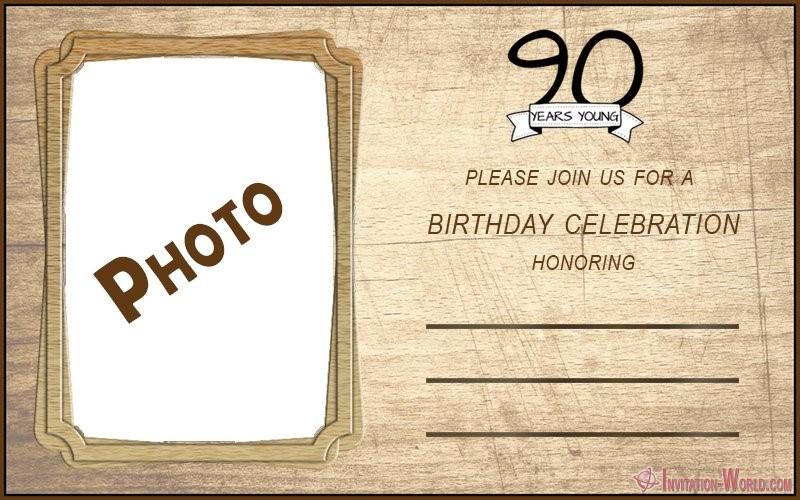 90th birthday invitation template - 90th Birthday Invitation Ideas