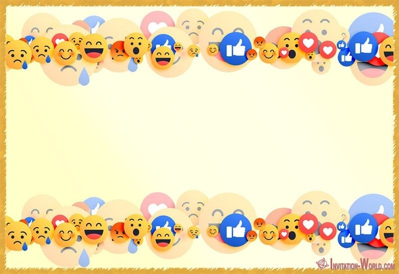 Blank Emoji Card - Emoji Invitations for the Perfect Party