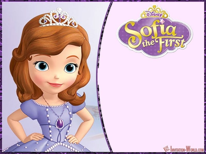 Blank Sofia the First Party Invitation Template - Sofia the First Free Online Invitation Templates