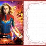 Brie Larson Captain Marvel Printable Invitation 150x150 - Captain Marvel Birrthday Invitation