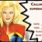 Captain Marvel Birrthday Party Invitation 150x150 - Captain Marvel Birrthday Invitation