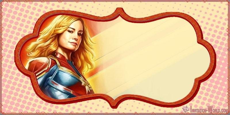 Captain Marvel Blank Invitation Card - Captain Marvel Invitation Cards
