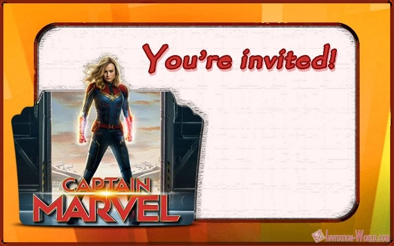 Captain Marvel Invitation Card - Captain Marvel Invitation Cards
