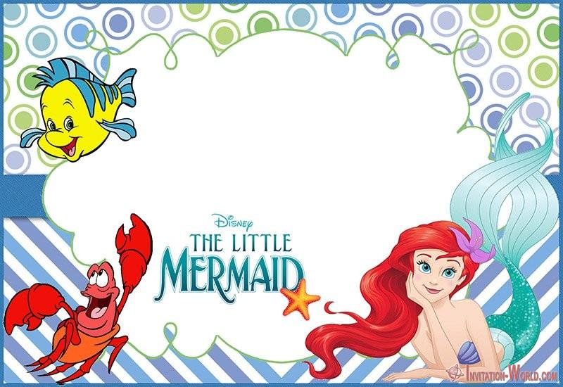 Disney Little Mermaid Invitation Template Free - Under the Sea Birthday Invitations
