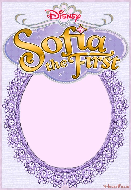 Disney Sofia the First Invitation - Sofia the First Free Online Invitation Templates