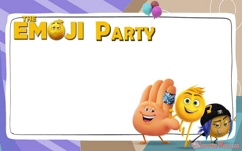 This is an image of Printable Emoji Invitations intended for invites