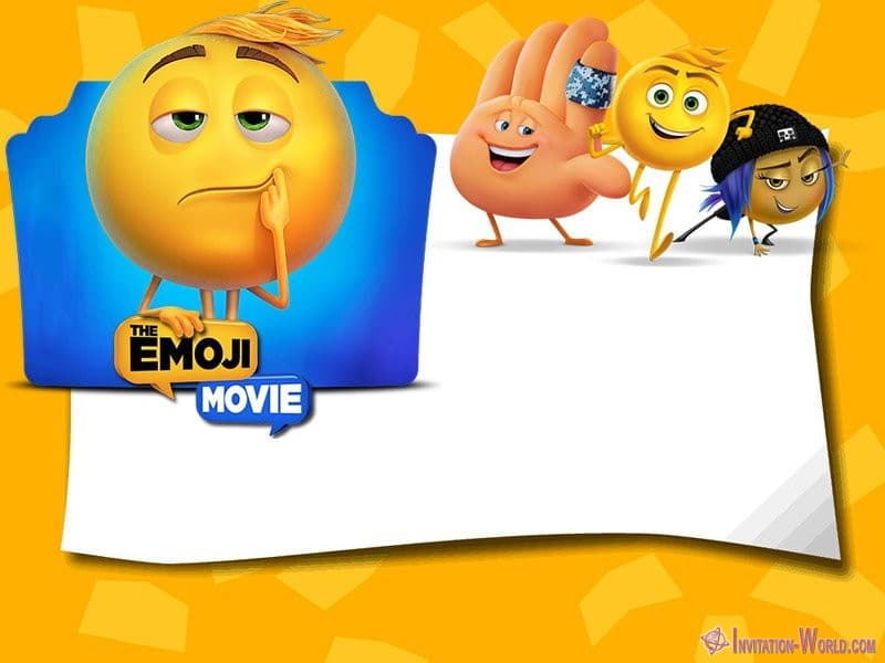 Emoji Movie Invitation Template Blank - Emoji Invitations for the Perfect Party