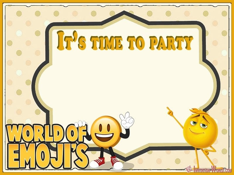 Emoji Party Invitation Template - Emoji Invitations for the Perfect Party