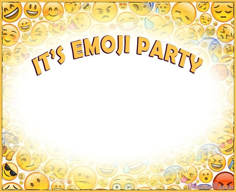 Free Emoji Template - Emoji Invitations for the Perfect Party