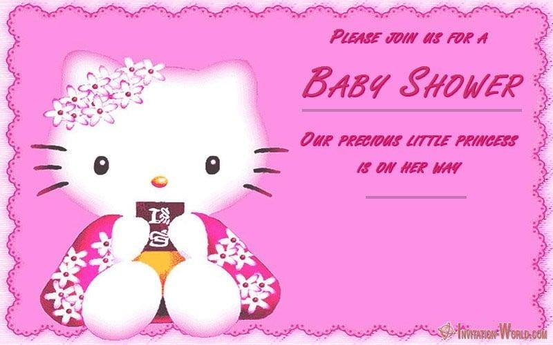 Free Hello Kitty Baby Shower Invitation - Hello Kitty Invitations - Free Printable Templates