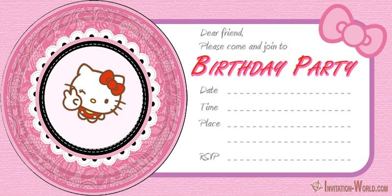Free Hello Kitty Birthday Invitation Template - Hello Kitty Invitations - Free Printable Templates