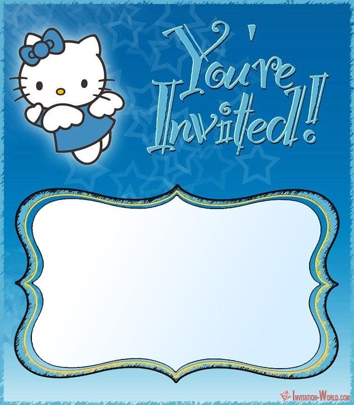 Free Hello Kitty Boys Invitation Template - Hello Kitty Invitations - Free Printable Templates