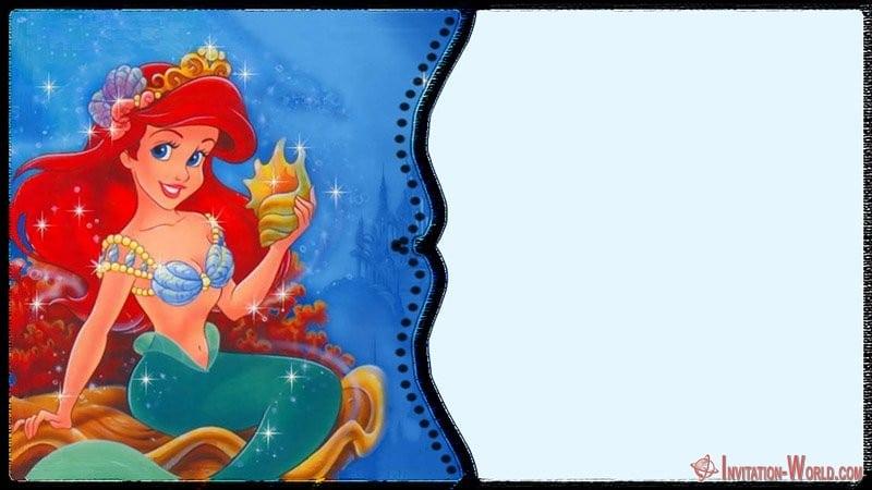 Free Little Mermaid Invitation Template - Under the Sea Birthday Invitations