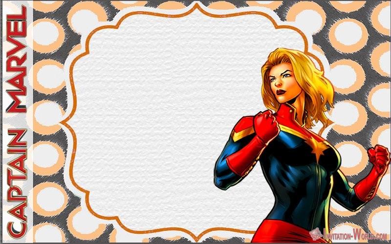 Free Printable Comic Captain Marvel Invitation - Captain Marvel Invitation Cards