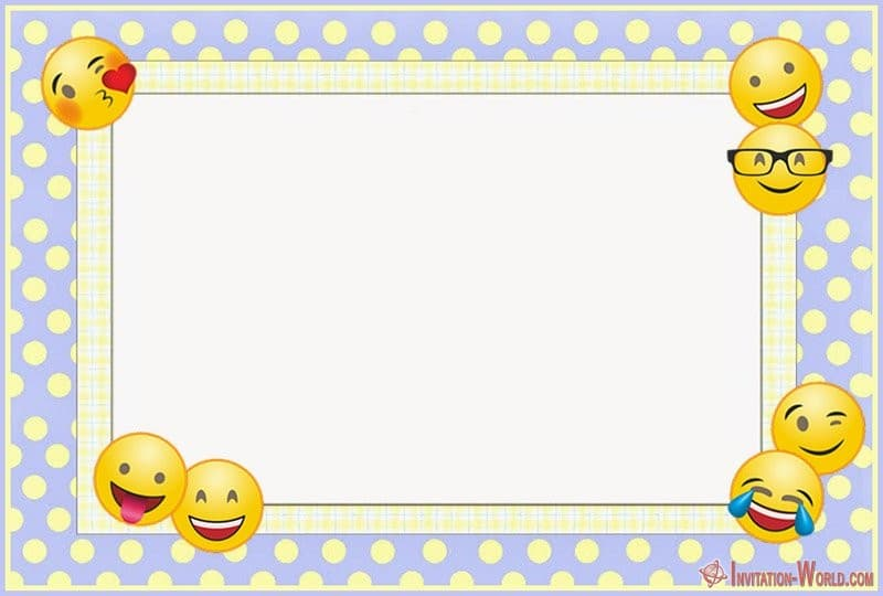 image regarding Free Printable Emojis identified as Emoji Invites for the Suitable Celebration Invitation Global