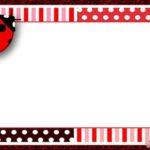 Free Printable Ladybug Invitation Template 150x150 - Free Online Ladybug Template