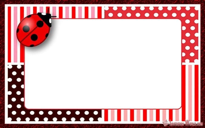 Free Printable Ladybug Invitation Template - Ladybug Invitation Templates - Free Download