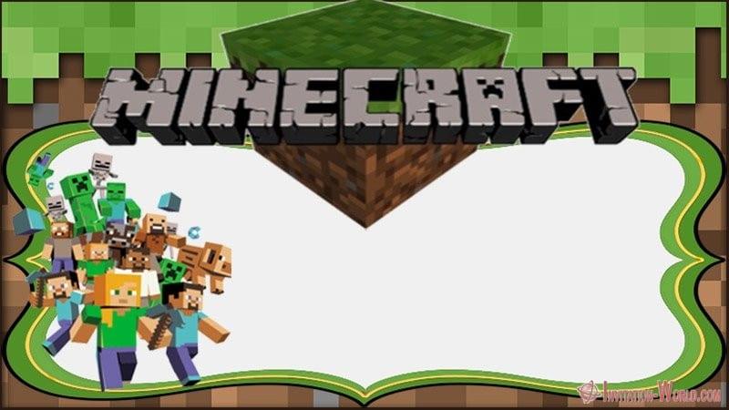 Minecraft Invitation Template | 12 Printable Minecraft Invitation Templates Invitation World