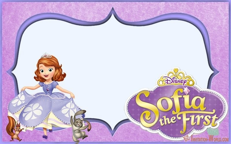 Free Printable Sofia the First Invitation Card - Sofia the First Free Online Invitation Templates