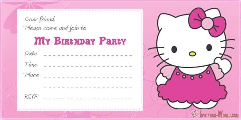 Hello Kitty Birthday Invitation - Hello Kitty Invitations - Free Printable Templates
