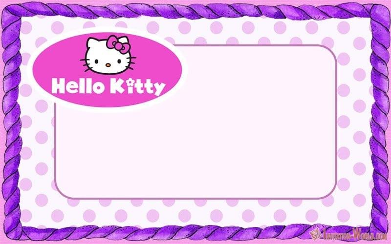 Hello Kitty Invitation Blank - Hello Kitty Invitations - Free Printable Templates