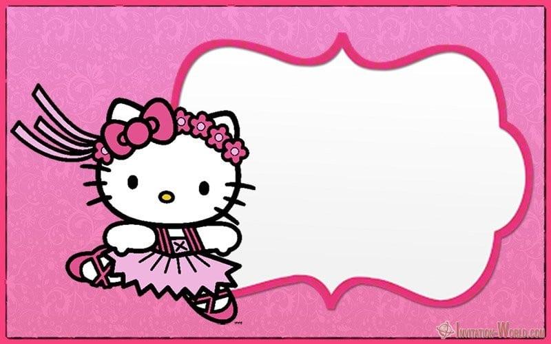 Hello Kitty Invitation Card - Hello Kitty Invitations - Free Printable Templates