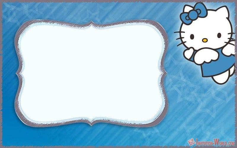 Hello Kitty Invitation for Boys - Hello Kitty Invitations - Free Printable Templates