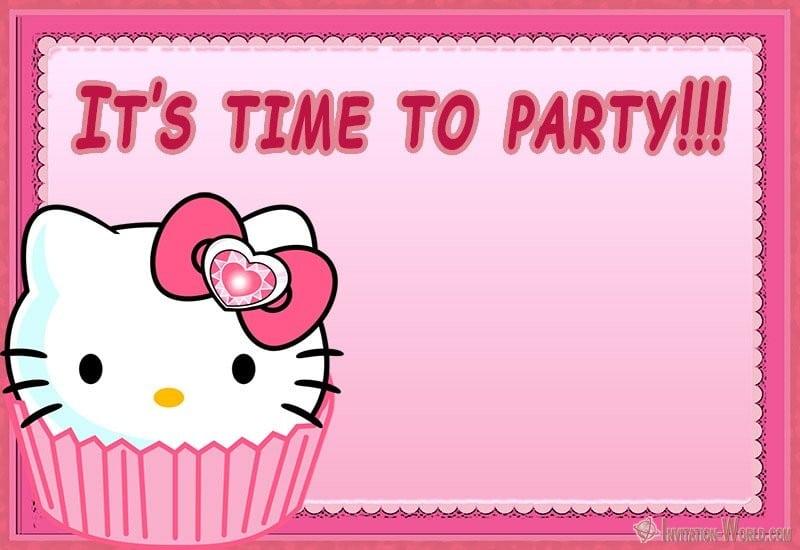 Hello Kitty Party Invitation Template - Hello Kitty Invitations - Free Printable Templates