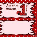 Ladybug First Birthday Invitation Template 150x150 - Free Printable Ladybug Invitation Template