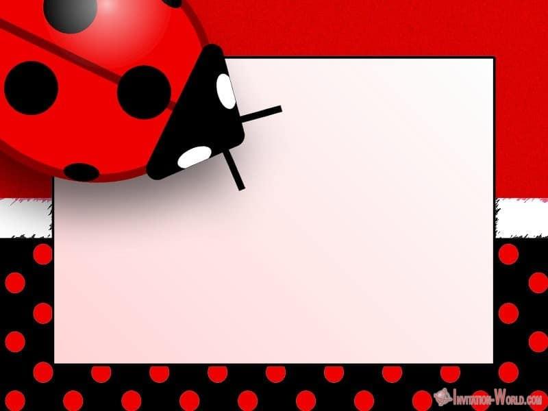 Ladybug free invitation template - Ladybug Invitation Templates - Free Download