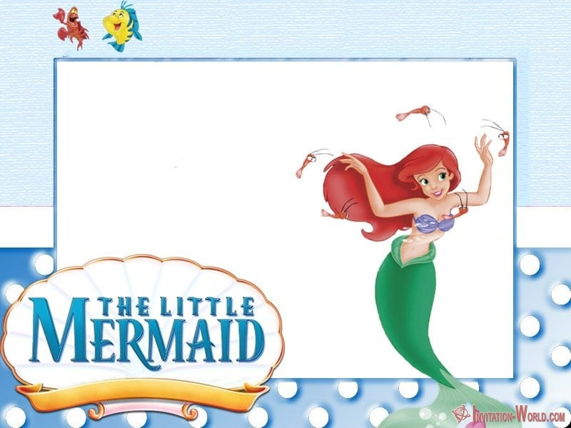 Mermaid Under the sea invitation template - Under the Sea Birthday Invitations