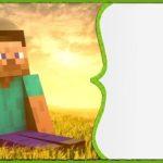 Minecraft Blank Invitation Free 150x150 - Minecraft Birthday Party Invitation
