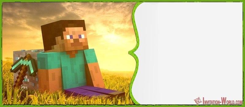 Minecraft Blank Invitation Free - 12+ Printable Minecraft Invitation Templates