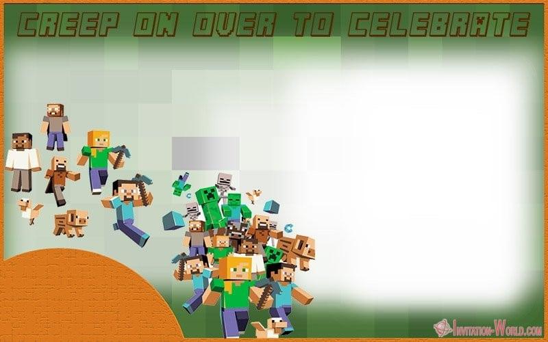 Minecraft Celebration Invitation - 12+ Printable Minecraft Invitation Templates