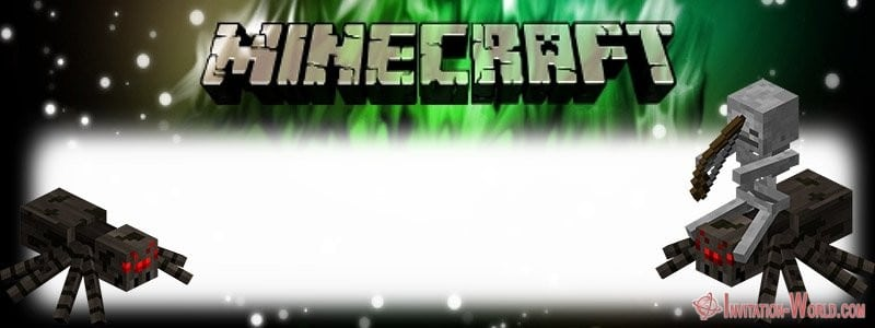 Minecraft Custom Invitation - 12+ Printable Minecraft Invitation Templates