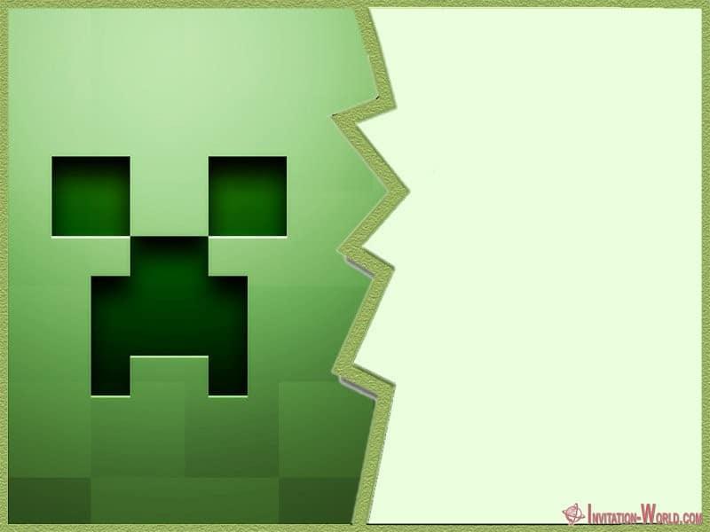 Minecraft Template - 12+ Printable Minecraft Invitation Templates