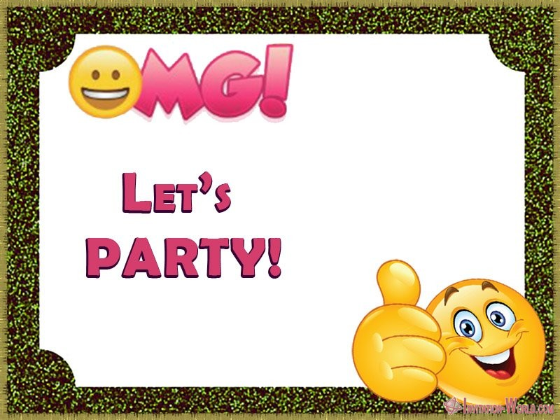 Party Invitation Card Emoji - Emoji Invitations for the Perfect Party