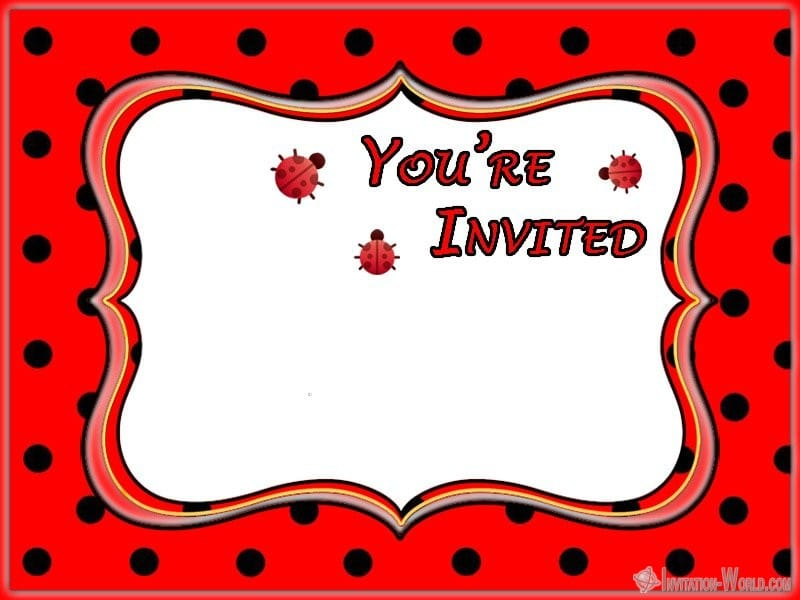 Printable Lady Invitation Blank - Ladybug Invitation Templates - Free Download