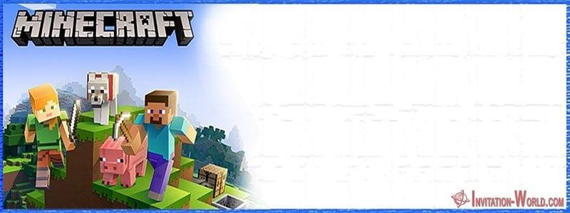 Printable Minecraft Invitation - 12+ Printable Minecraft Invitation Templates