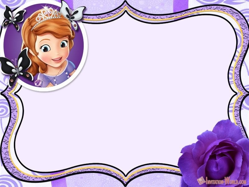 Sofia the First Birthday Invitation - Sofia the First Free Online Invitation Templates