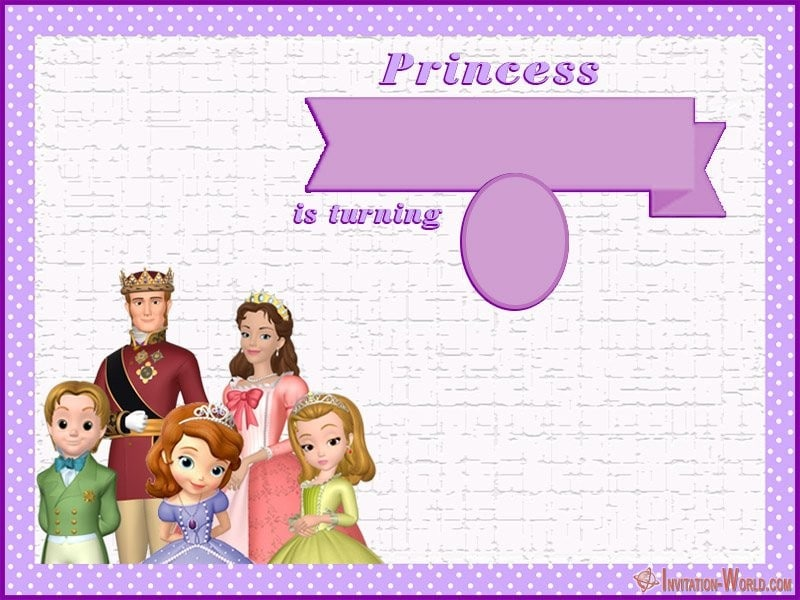Sofia the First DIY Birthday Template - Sofia the First Free Online Invitation Templates