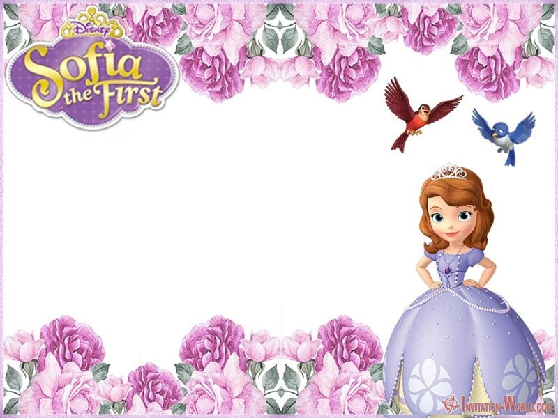 Sofia the First Flower Template - Sofia the First Free Online Invitation Templates