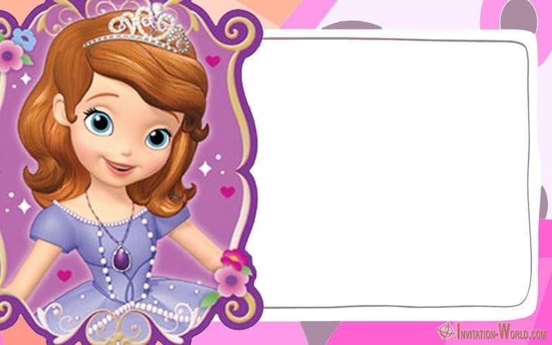 Sofia the First Invitation Template - Sofia the First Free Online Invitation Templates