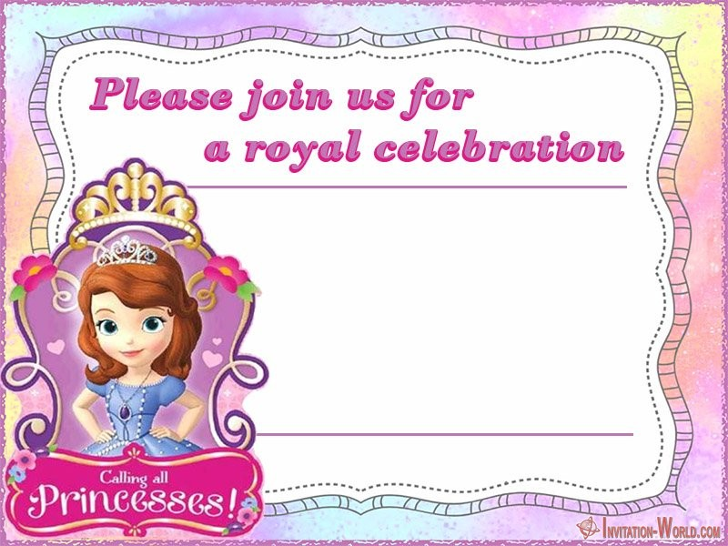 Sofia The First Free Online Invitation Templates Invitation World