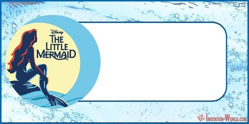 The Little Mermaid free prrintable invitation card - Under the Sea Birthday Invitations