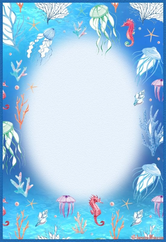 Under the sea Invitation Template - Under the Sea Birthday Invitations